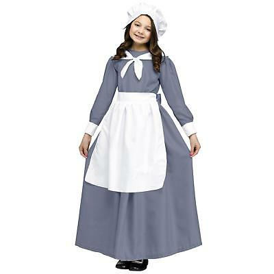 Colonial Pilgrim Girl Kids Thanksgiving Costume | Fun World 114022 (Kids Thanksgiving)