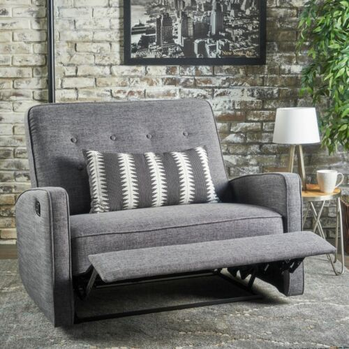 Callade Contemporary Button Tufted Upholstered Loveseat Recl