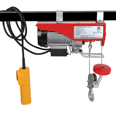 440 Lb Electric Cable Hoist Crane Lift Garage Auto Shop Winch Wremote 110v