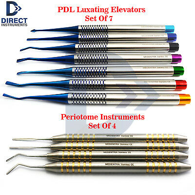 Dental Pdl Luxating Elevators Periotome Luxation Tooth Extracting Extraction Kit