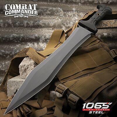 Full-Tang Gladiator Sword Gladius Machete w/Sheath 1065 High Carbon Steel
