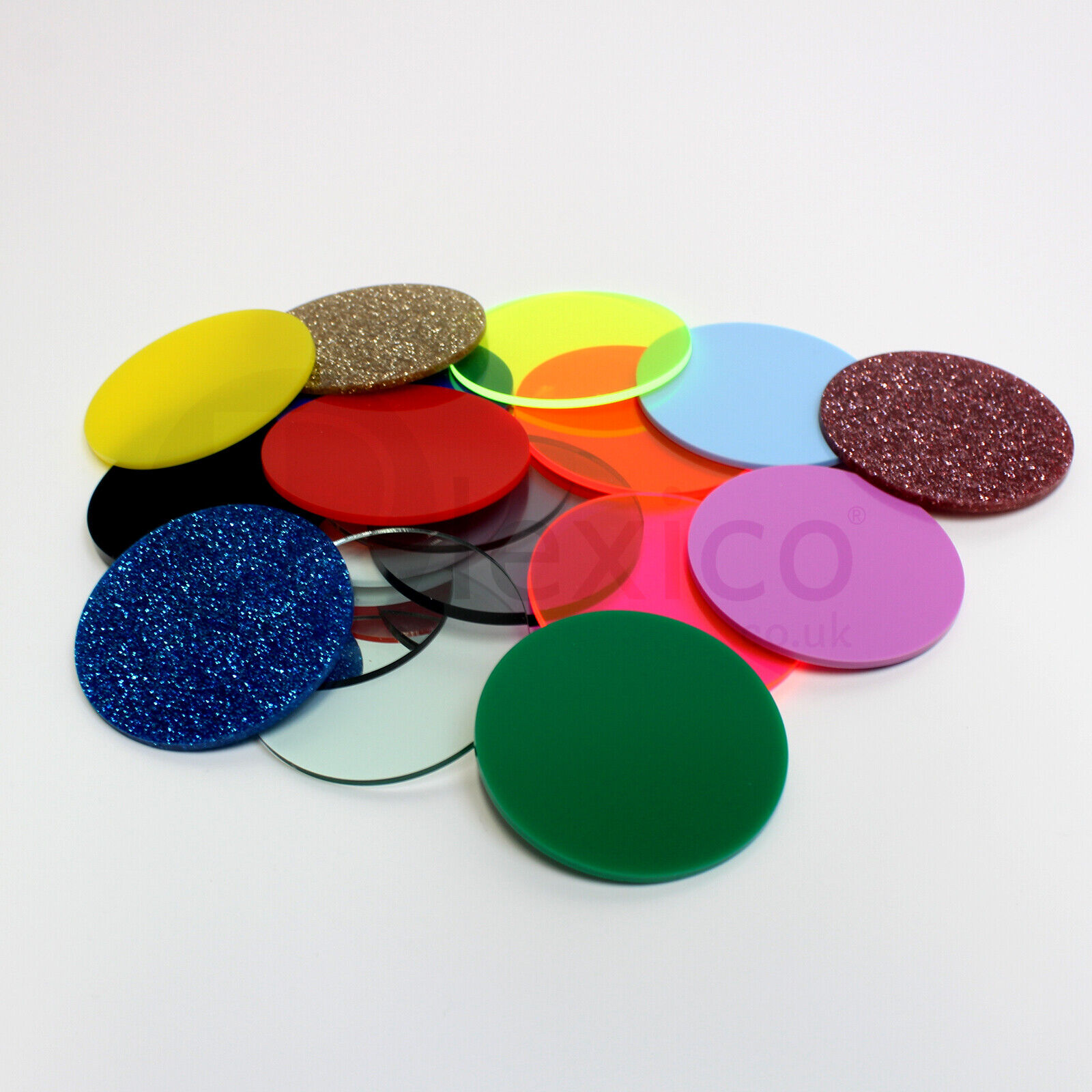 Color  Acrylic Disks Circles TRANSPARENT Assorted sizes and colors!