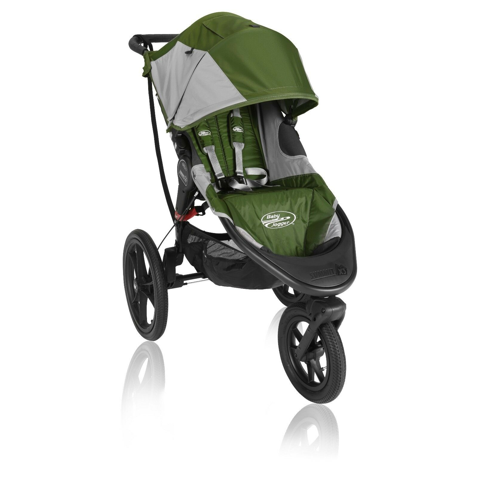 NIB Baby Jogger BJ31440 Summit X3 Simple Stroller Green & Gr