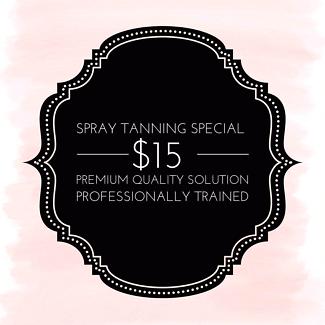 Spray tan special $15