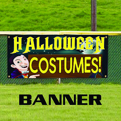 Halloween Costumes For Sale Party Décor Retail Advertising Vinyl Banner Sign