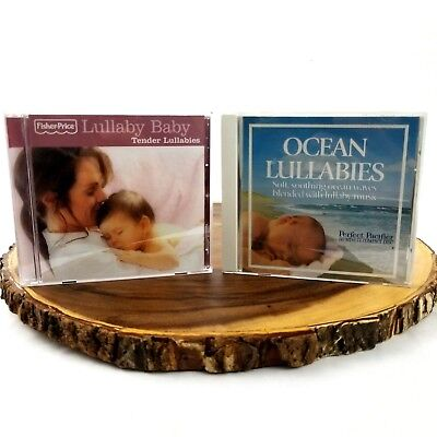 Lot Of 2 Lullaby Baby Tender Lullabies Fisher Price CD's Perfect Pacifier Ocean
