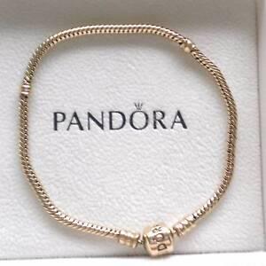 Pandora  ' Moments ' Gold Bracelet ...20cm South Maclean Logan Area Preview