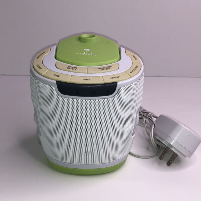 My Baby SoundSpa Lullaby Sound Machine & Projector by Homedics 6 Soothing Sounds