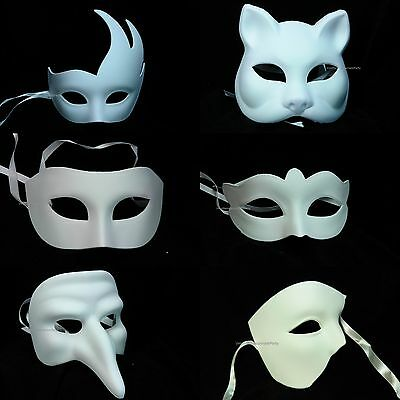 White Blank DIY Masquerade Mask For Girls Boys Holiday Midnight Costume - Masquerade Masks For Boys