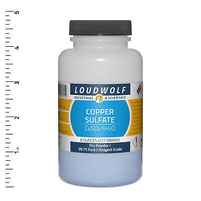 Copper Sulfate 8 Oz Reagent Grade Dry Powder Usa Seller