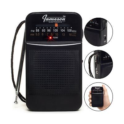 AM // FM Portable Pocket Radio with Best Reception - Small Battery Operated