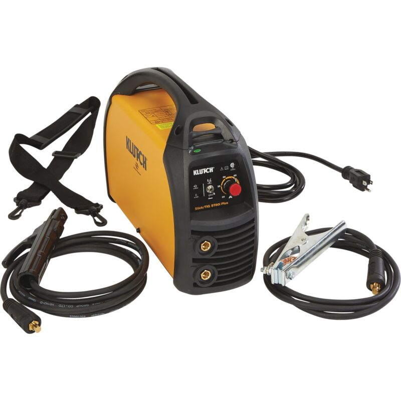 Klutch ST80i Plus Inverter-Powered DC Stick/TIG Welder - 120 Volt, 80 Amp