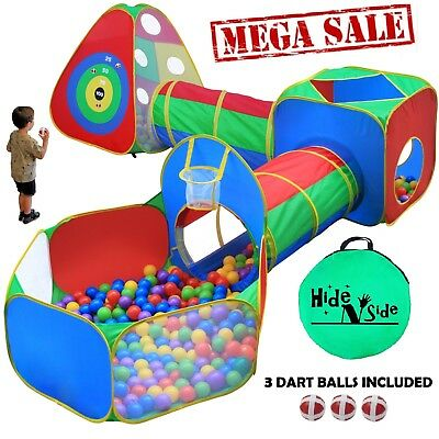 Boys Kids Ball Pit Play Tents & Tunnels, Basketball Hoop Pop up. FREE EXP SHIP!! - Kids Tunnels