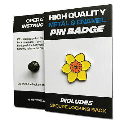 Yellow Daffodil High Quality Metal & Enamel Pin Badge with Secure Locking Back for sale  Shipping to Ireland