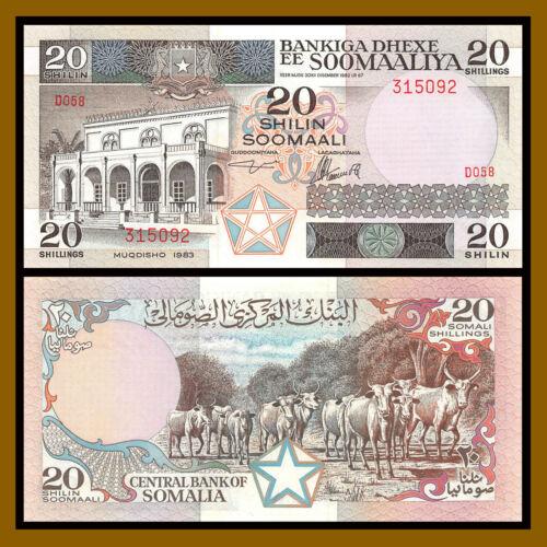 Somalia 20 Shilin (Shillings), 1983 P-33a Unc