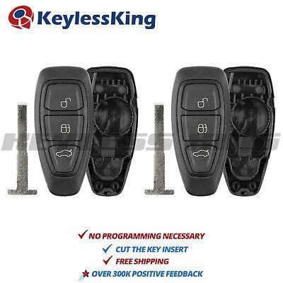 2x Keyless Remote Key Fob Shell Case for Ford C-Max Fiesta Focus KR55WK48801