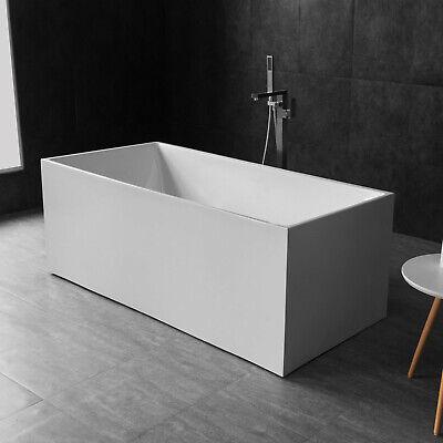 "WOODBRIDGE 59"" Acrylic Freestanding Bathtub Contemporary Soaking BTA0086"