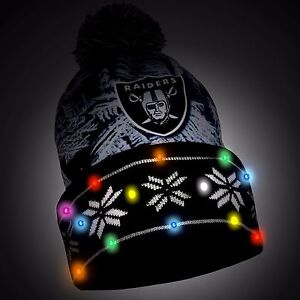 Forever Collectibles NFL Oakland Raiders Light up Knit Hat for sale ... c8c193a0a