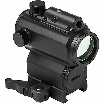 NcSTAR VDBRGLB Weaver Rifle Micro Red Blue Dot Reflex Sight Optic w/ Green Laser