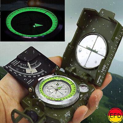 Military Compás Luminoso Sighting Clinometer Impermeable Brújula Para Acampada