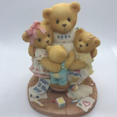 Cherished Teddies Katie Renee Jessica Matthew 538299 Mom Bear Surrounded by Hugs