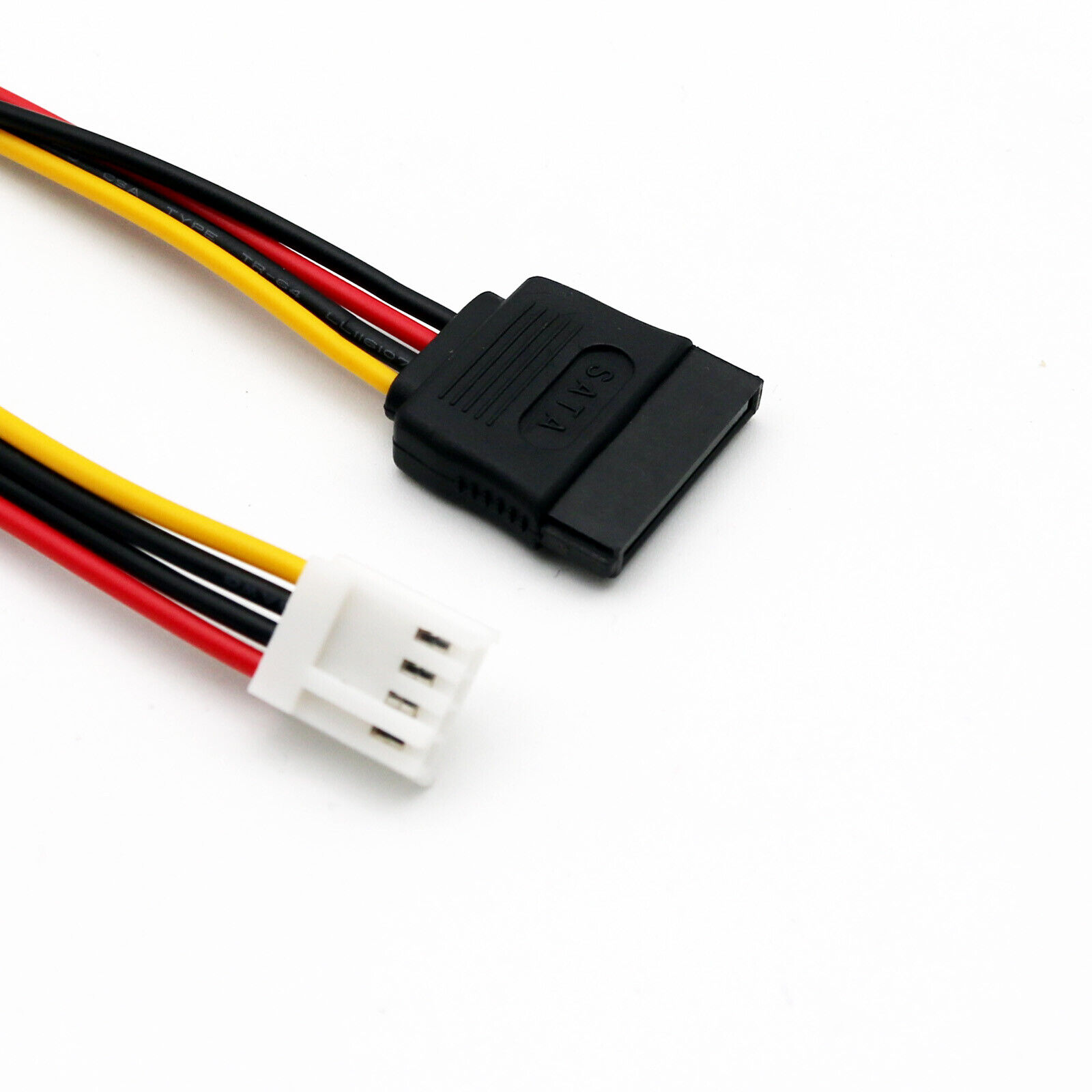 1x SATA 15 Pin Female to 4 Pin Floppy FDD Female Jack Power Connector Cable 20cm