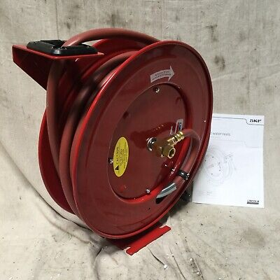 Lincoln 83754 Spring Return Hose Reel Air Water 300psi 50 Ft 12 D Bent Reel