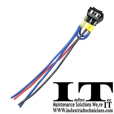 Industec 20 Amp Motor Polarity - Reversing Maintained Rocker Switch Wires O