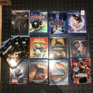 Disney Batman Kung Fu Panda Enchanted Shawshank 13 Blu Ray Lot