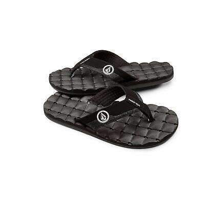 Volcom Men's Recliner FLIP Flop Sandal, Black/Whit - Choose