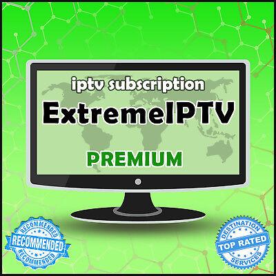 """12 Month"" Extreme IPTV +20000 Ch&VODs WORLDWIDE ""PREMIUM"" IPTV SUBSCRIPTION"