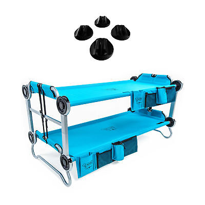 Disc-O-Bed Youth Kid-O-Bunk Benchable Camping Cot, Teal & No