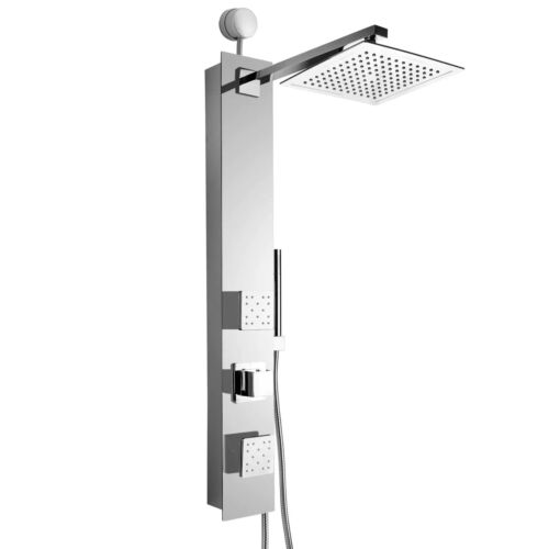 AKDY 35 in. 2-Jet Easy Connect Shower Panel System in Mirror Tempered Glass