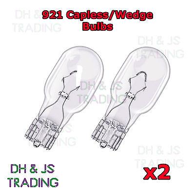 2 x 921 Capless Wedge Car Bulbs High Level Brake Light 12v 16w 15mm 955 Bulb