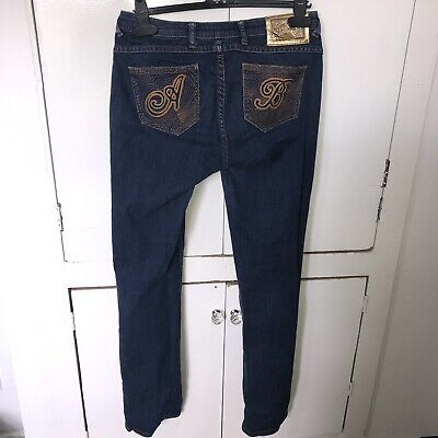 Genuine Apple Bottoms Jeans Dark Blue Denim Size 7/8 UK 10-12