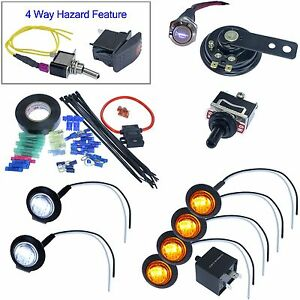 Atv turn signal kit ebay universal led turn signal kit street legal atv utv jeep rock crawler dune buggy solutioingenieria Choice Image