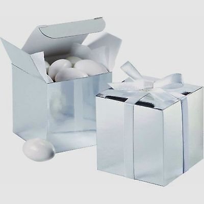 Buy gift boxes wholesale - Wholesale Lot 300 Square Silver 2x2x2 Gift Boxes Wedding Shower Party Favors