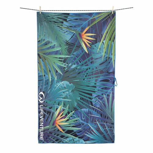 Lifeventure SoftFibre Printed Camping & Travel Towel 150 x 90cm Tropical Print