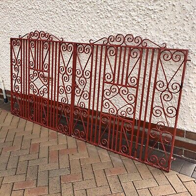 Wrought Iron Driveway Gates. Art Deco 1930's Style. Stunning example