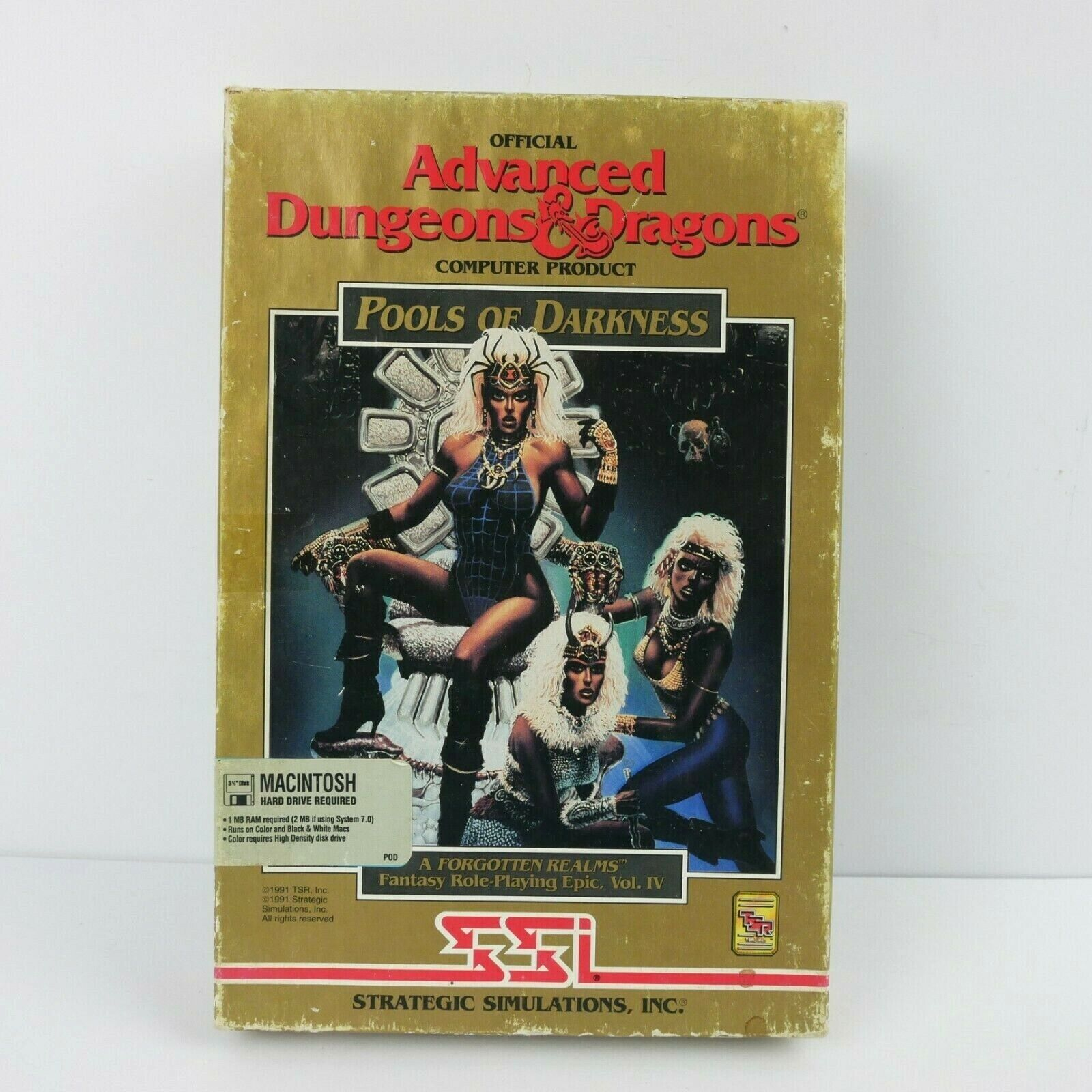 Computer Games - Advanced Dungeons and Dragons Pools of Darkness Macintosh SSI Computer Game 1992