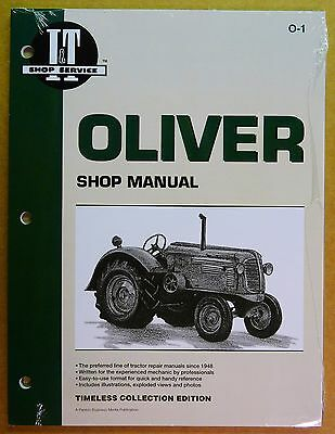 New Oliver Shop Manual For Tractor Models 60 70 80 90 99 O-1