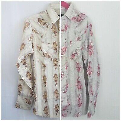 Kids 60s Vintage CHAMPION WESTERN WEAR LongTail Cowboy Snap Floral Shirt 8 10 16](Kids Western Wear)