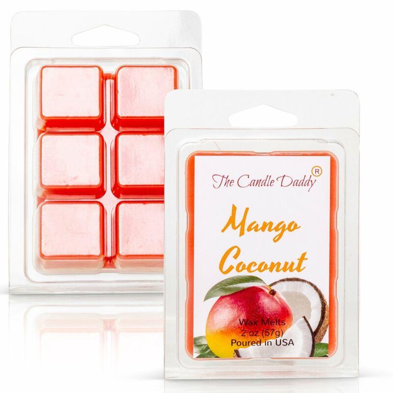 Mango Coconut - Tropical Mango & Coconut Scented Melt- Maximum Scent Wax Cubes/M