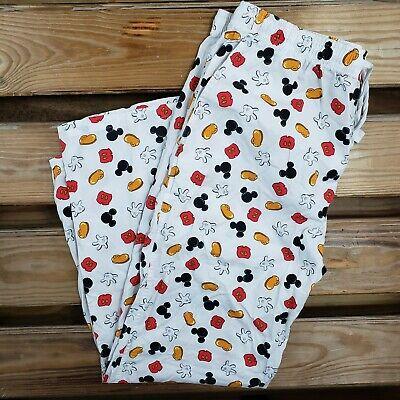Disney Adult Pjs (Disney Adult Large All Over Print Joggers Sleep Wear PJ Pants Drawstring)