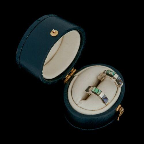Vintage Designer Sterling Silver SUARTI Abalone Shell Petite Drop Earrings 1.9g