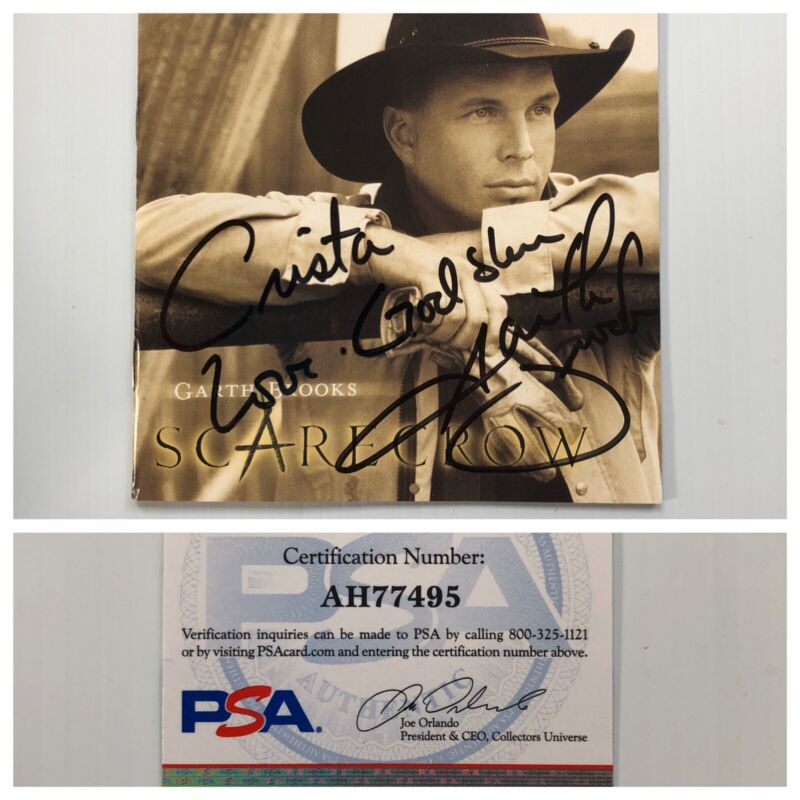 Garth Brooks Signed Autograph Scarecrow CD Booklet PSA DNA - FREE PRIORITY S&H!