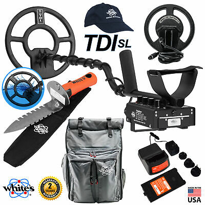Whites Tdi Sl Pi Detector Holiday Bundle 7.5 Dual Field Coil Accessories