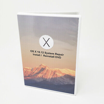 Mac OS X 10.12 Sierra MacOS Full OS Install - Reinstall / Recovery Upgrade DVD