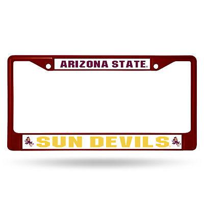 Arizona State Sun Devils NCAA Maroon Painted Chrome Metal License Plate Frame Devils Ncaa Chrome License Plate