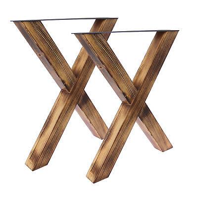 2x Tischgestell Tischkufen Industriedesign Holz Tischbeine Tischuntergestell NEU